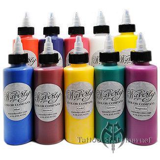 Краска для тату Waverly Color Inks Full Set of 30 Waverly Tattoo ...
